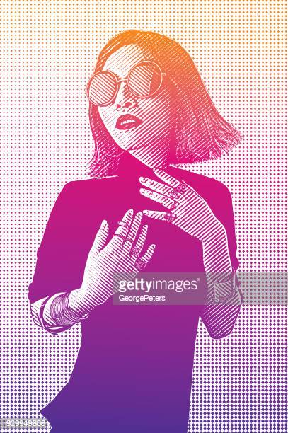 portrait of a fashionable vietnamese woman with cool attitude - me too social movement stock illustrations, clip art, cartoons, & icons