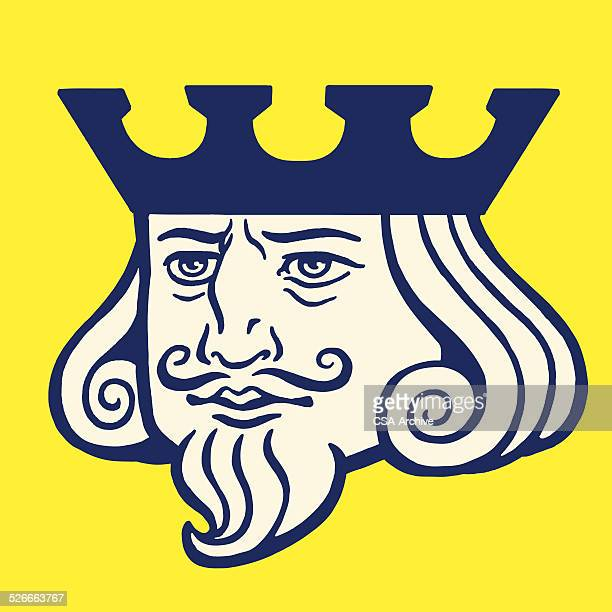 portrait of a king - king royal person stock illustrations