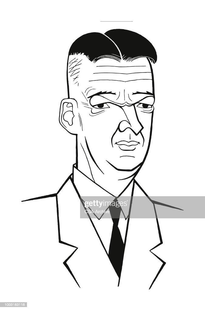 Portrait of a Man : stock illustration