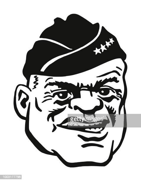 Portrait of a Tough Military Man