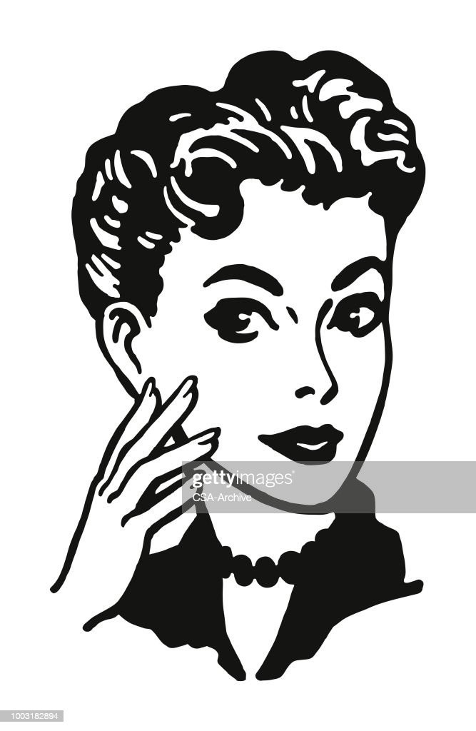 Portrait of a Woman : stock illustration