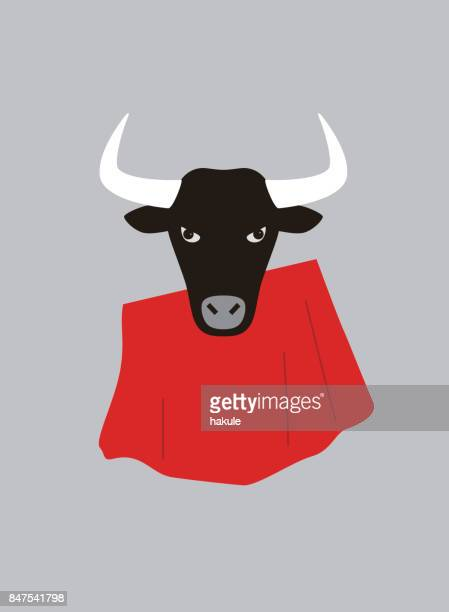Portrait of bull, wearing something, cool style