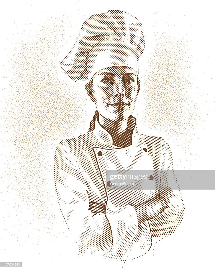 Portrait of Chef : Vector Art