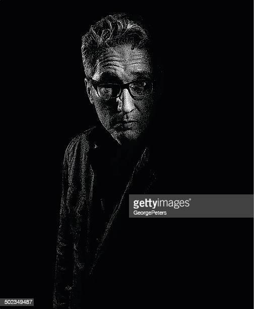 Retrato de homem idoso deprimido