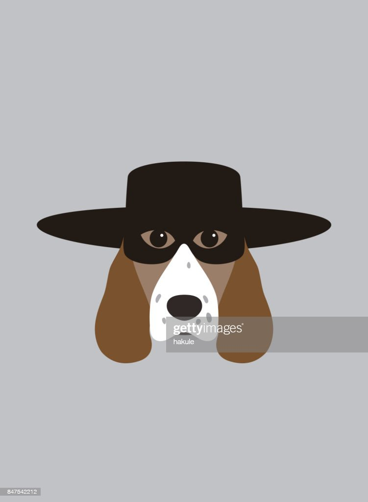 Portrait of dog, wearing mask, cool style