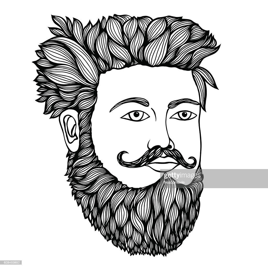 portrait of moustached man