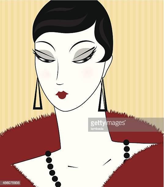 Retrato de mulher retro