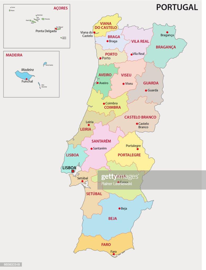 Portugal administrative map