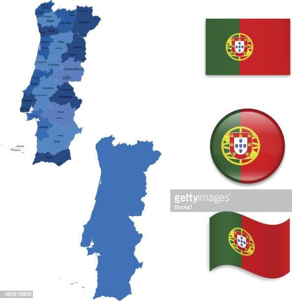 illustrations, cliparts, dessins animés et icônes de portugal carte et drapeau de la collection - leiria