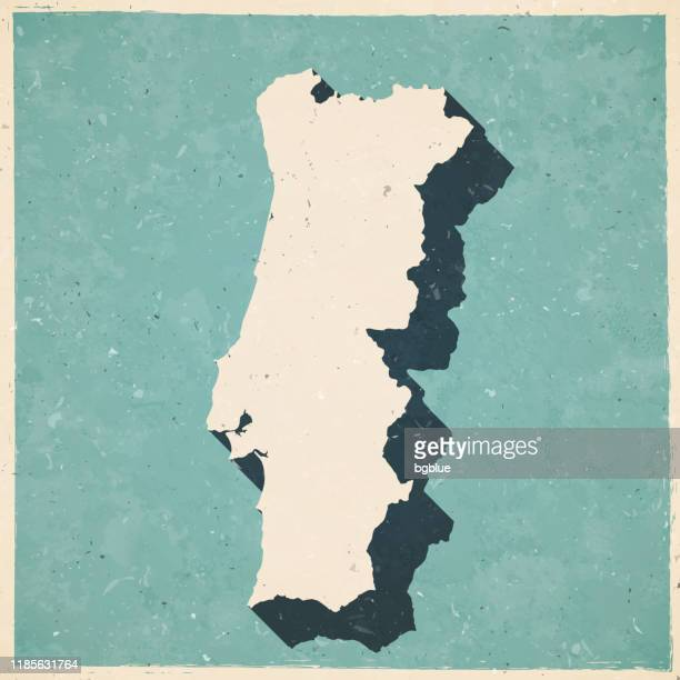 ilustrações de stock, clip art, desenhos animados e ícones de portugal map in retro vintage style - old textured paper - portugal