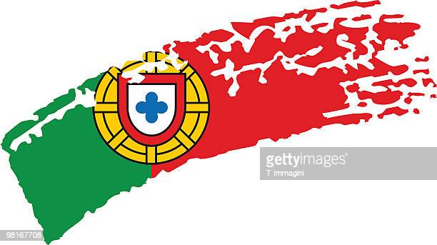 Portugal painted flag