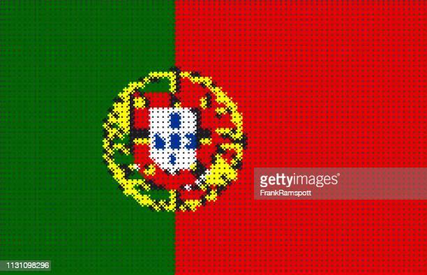 Portugal Pixelte Vektorflagge