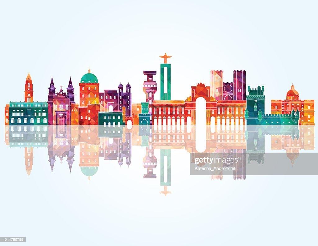 Portugal skyline. Vector illustration