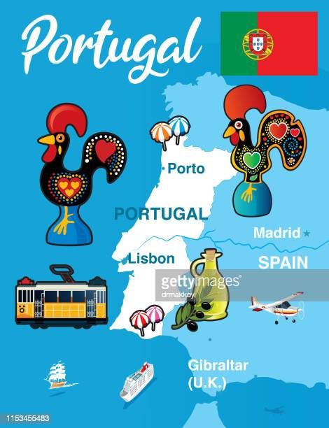 ilustrações de stock, clip art, desenhos animados e ícones de portugal - galo de barcelos