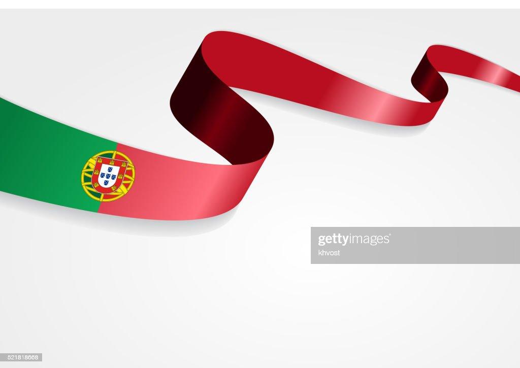 Portuguese flag background. Vector illustration