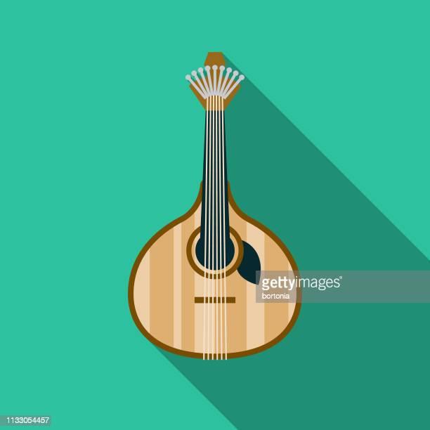 ilustrações, clipart, desenhos animados e ícones de ícone português da guitarra - cultura portuguesa