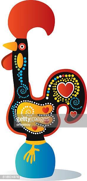 ilustrações de stock, clip art, desenhos animados e ícones de galo português - galo de barcelos