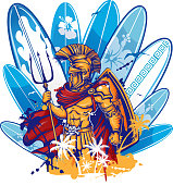 poseidon over surfboard elements