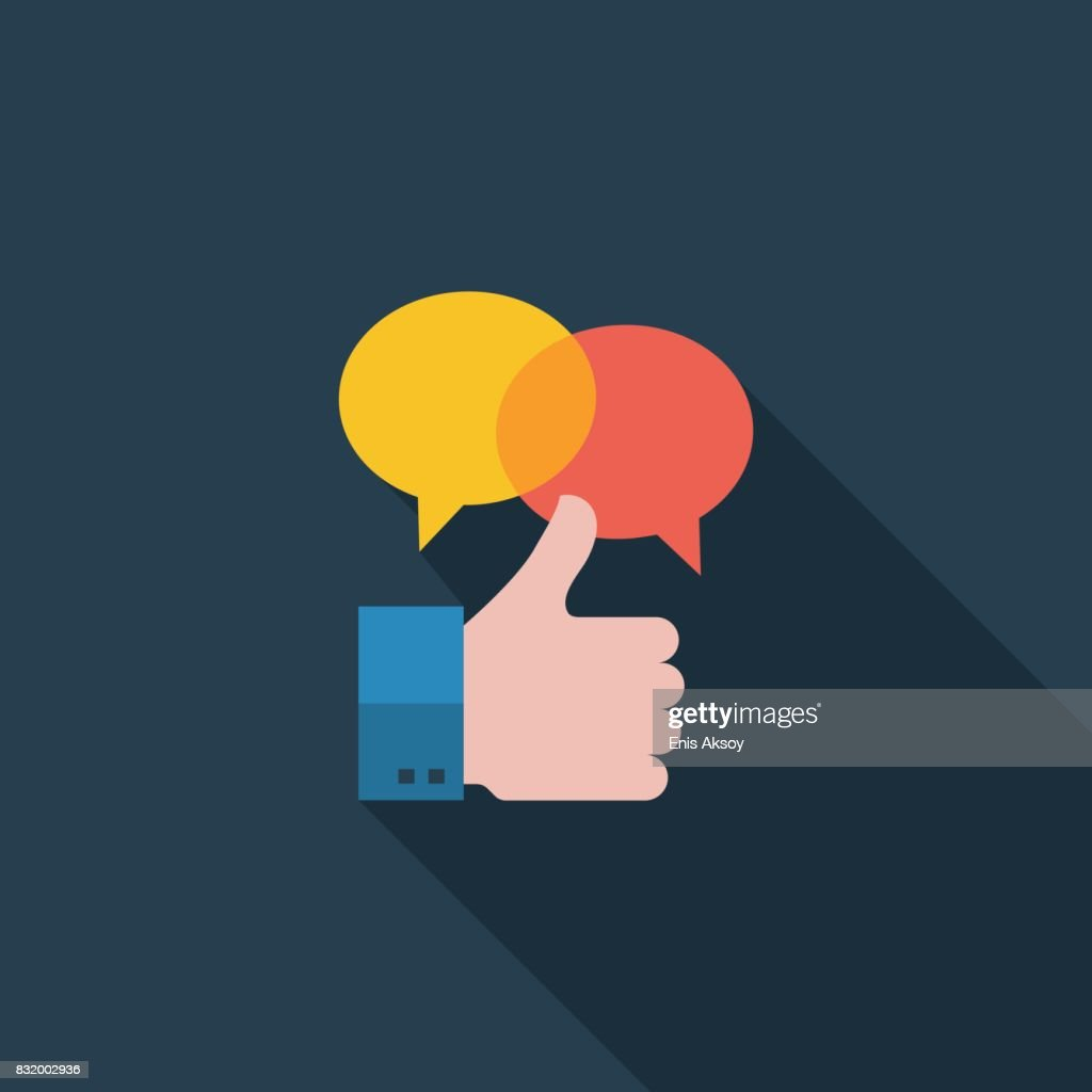 Positives Feedback flache Symbol : Stock-Illustration