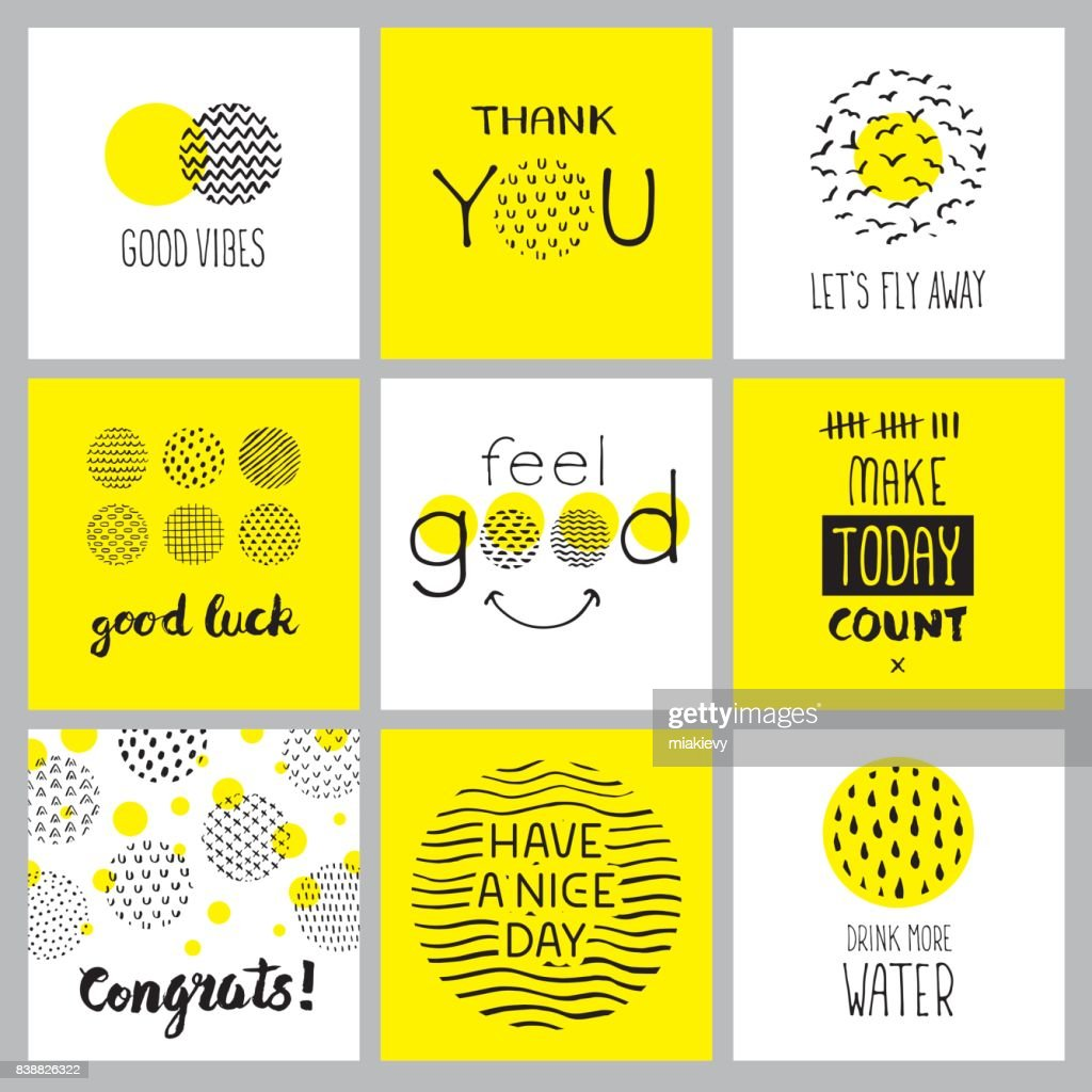 Positive hand drawn quotes : Stock Illustration