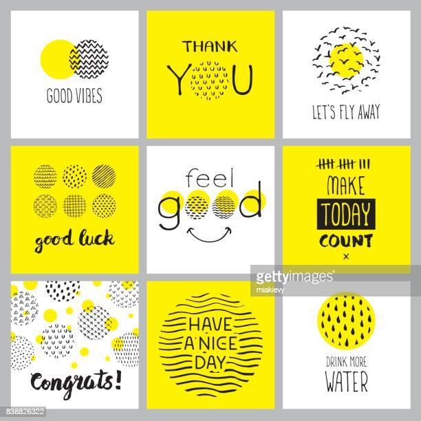 positive hand drawn quotes - motivation stock illustrations, clip art, cartoons, & icons
