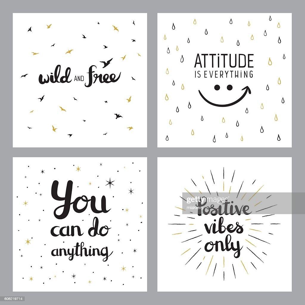 Positive Inspirational Quotes Mesmerizing Positive Inspirational Quotes Vector Art  Getty Images