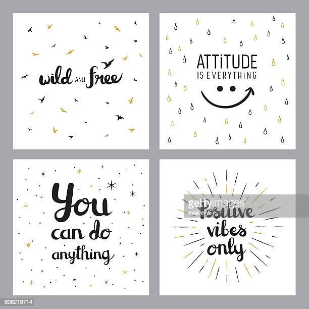 positive inspirational quotes - motivation stock illustrations, clip art, cartoons, & icons