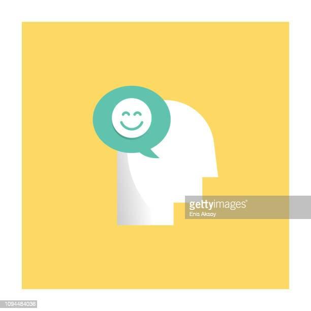 positives denken-symbol - positive emotionen stock-grafiken, -clipart, -cartoons und -symbole