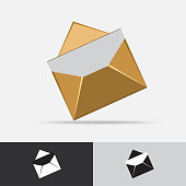 Post Mail Vector Icon Flat Design