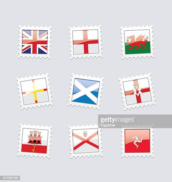 Postage Stamp Flags: British Territory in Europe