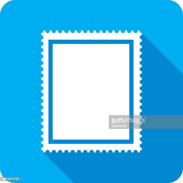 postage stamp icon silhouette - post office stock illustrations, clip art, cartoons, & icons