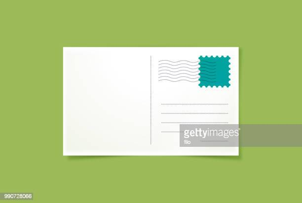 postcard - message stock illustrations