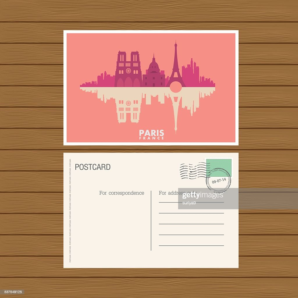 postcard. Vector illustration