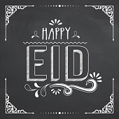 Poster, banner or flyer for Happy Eid celebration.