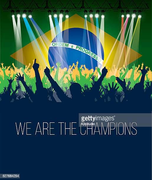 Plakat, Brasilien-Fan