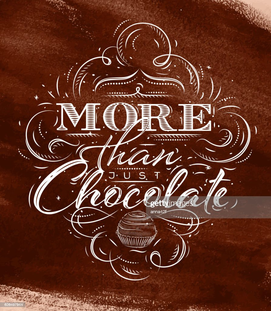 Poster chocolate brown