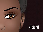 Poster design with African woman face