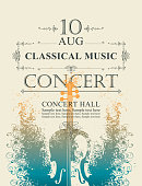 poster for concert of classical music with violin