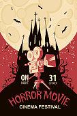 poster for horror movie festival, scary cinema