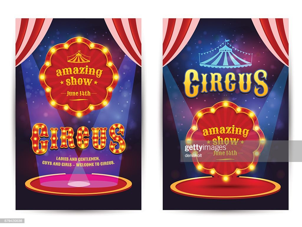 Poster for the circus.