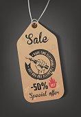 Poster for vape shop. sale. vector illustration