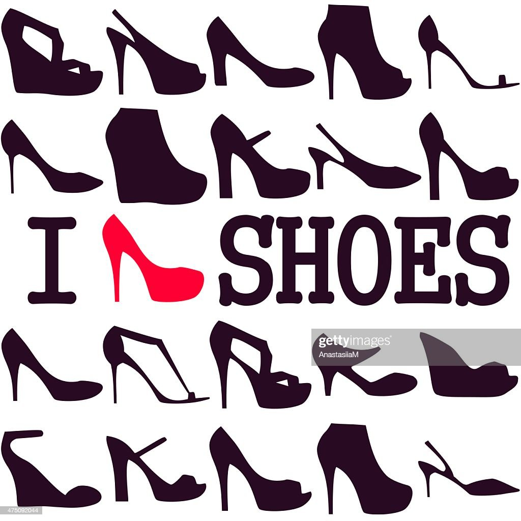 Poster 'I love shoes'