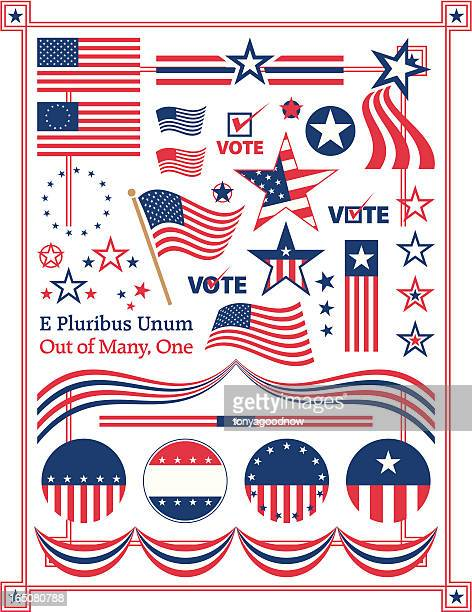 poster illustration of american centered patriotic themes - usa politics stock illustrations