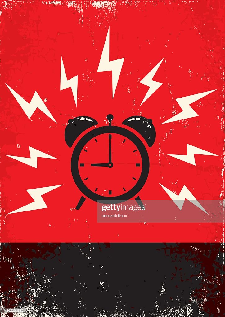 poster of alarm clock