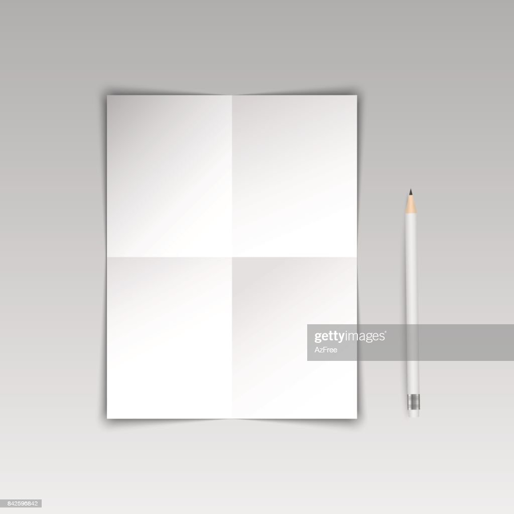 A poster paper template. Vector.