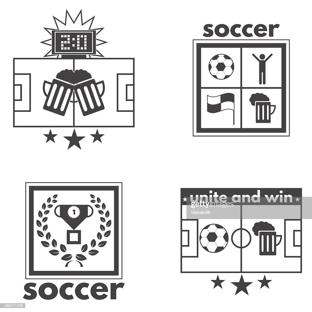 Poster set soccer