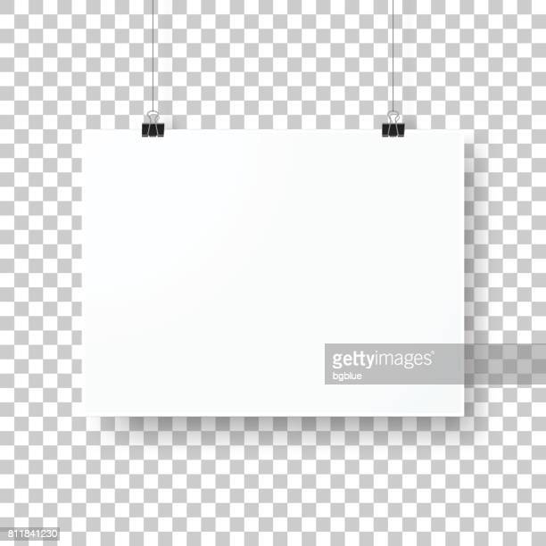 Poster template isolated on blank background