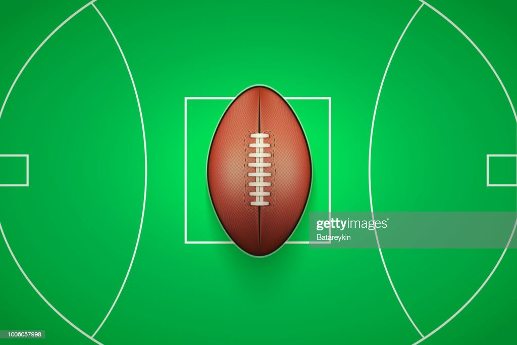 Poster Template of Australian rules football Ball