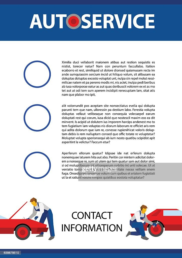 Poster vector template for autoservice