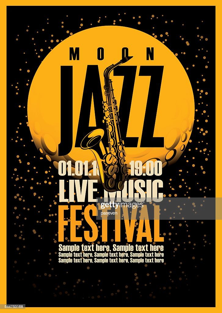 Poster with a saxophone for jazz festivals
